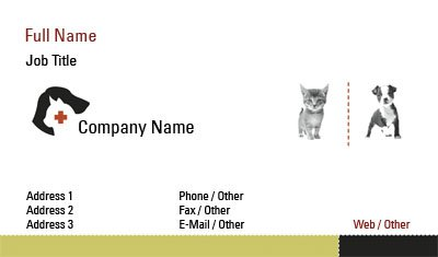 Puppy and Kitten Business Card Template